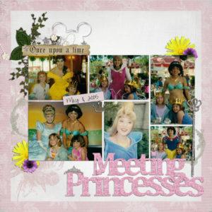 disney scrapbook layout princesses