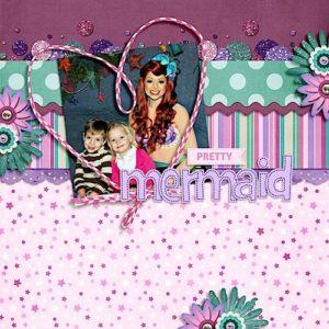 disney scrapbook layout princess ariel