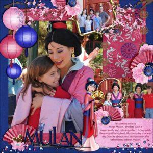 disney scrapbook layout princess mulan