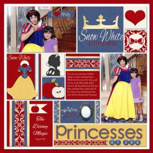 disney scrapbook layout princess snow white