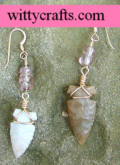 make arrowhead bead earrings