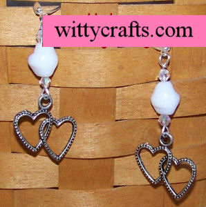 make heart earrings, beaded earring tutorial