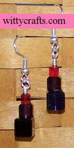 make bead earrings, cubed beades, earrings project, tutorial