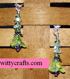 make beaded earrings, flower beads, flower earrings tutorial