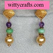 make beaded earring tutorial