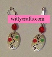 make christmas earrings, christmas charms