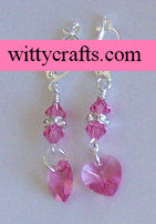 make beaded heart earrings
