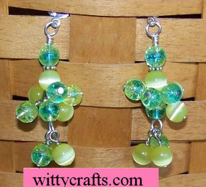 dangle beads earrings to make