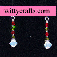 make beaded christmas earrings