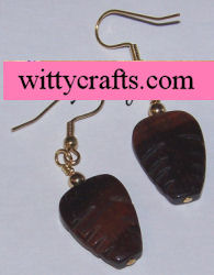 tiger eye stone beaded earrings