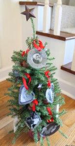 photo christmas tree ornament tin