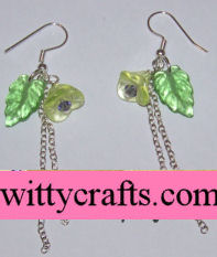 make flower beaded earrings