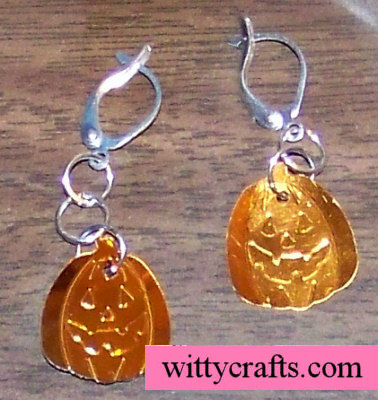 pumpkin earrings to make