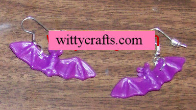 bat earrings, bat crafts
