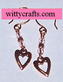 heart beaded earrings