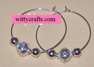 silver hoops earring project