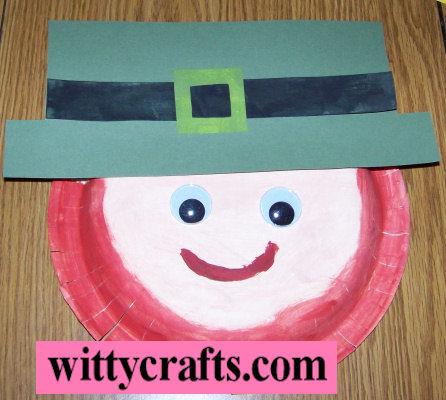 leprechaun face, paper plate craft