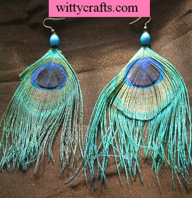beaded earrings tutorial, feather earrings tutorial