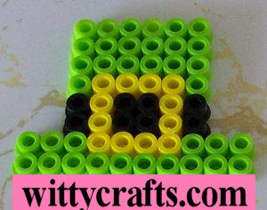 perler bead pattern, leprechaun hat