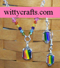 make cane glass earrings
