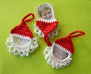 free crochet patten christmas ornament santa face