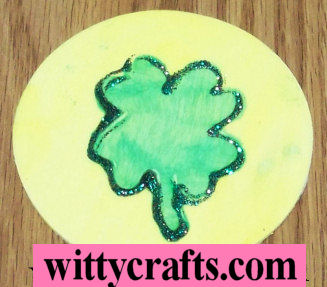 shamrock craft, shamrock magnet