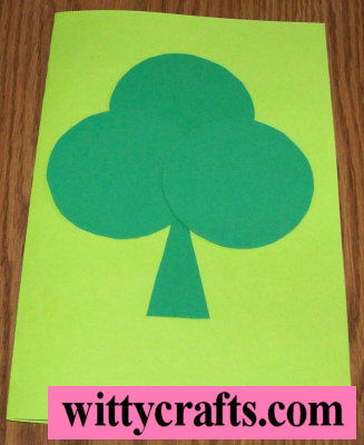 shamrock crafts, shapes