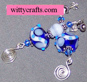 lampwork and lace earring tutorial