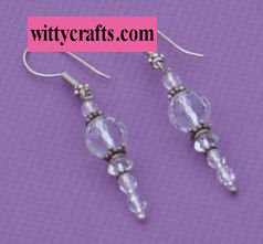 beaded earring tutorial, vintage crystal beads