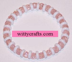 crackle beaded bracelet project tutorial