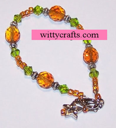 autumn bracelet tutorial