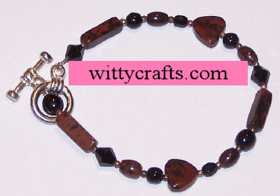 make beaded heart bracelet
