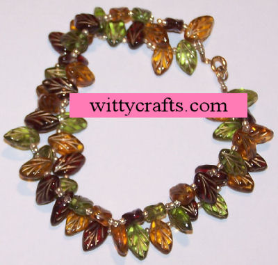 beaded leaf bracelet project, tutorials