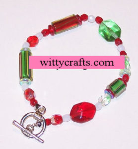 make beaded christmas bracelet