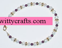 Garnet and Pearl Bead Bracelet – Make a Beaded Bracelet Project