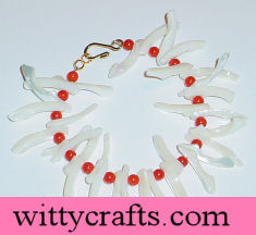 make coral and pearl bracelet