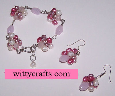Make a Beaded Bracelet Project: Rose Quartz and Pearl Beaded Bracelet