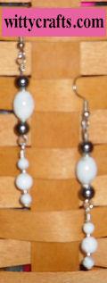 beaded earrings tutorial, hematite bead earrings