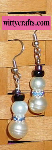 make beaded snowman earrings, bead snowman earrings tutorials