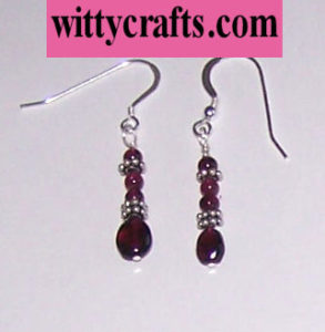 make garnet bead earrings