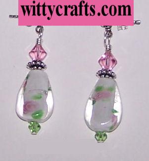 lampwork beads earrings to make