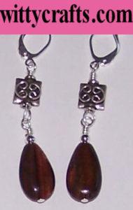make tiger eye bead earrings tutorial
