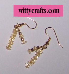 make citrine beaded earrings