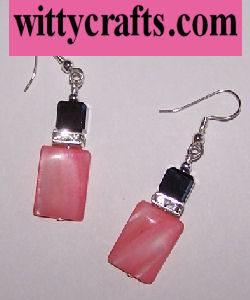 beaded earrings tutorial pink