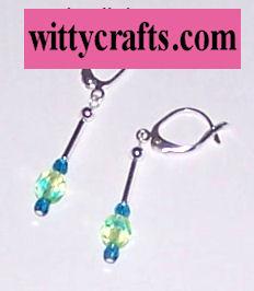 beaded earrings, make dnagle earrings