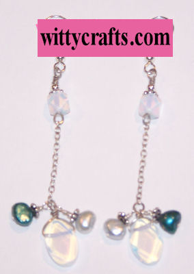 bead and chain earrings tutorial