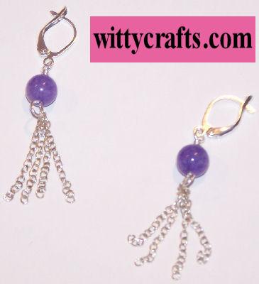 beaded earrings, tutorial, chain earrings