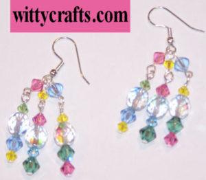 make spring earrings, beaded earring tutorial