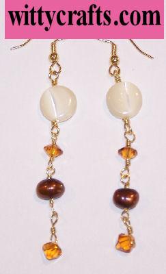 Autumn Pearl Drops Beaded Earrings – Free Bead Project
