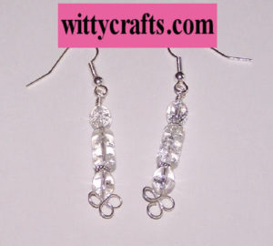 make beaded earrings, wire wrapped